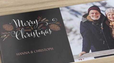 Kerstkaart met design
